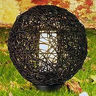 Lampe de jardin ronde - étanche et résistante au gel - adaptée à ampoule basse consommation