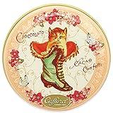カファレル Caffarel チョコラティーノ缶(ピンク) ネコ チョコレート 袋付き