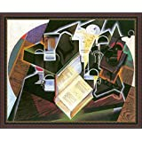 Book, Pipe And Glasses By Juan Gris - ArtsNyou Printed Paintings - B00QA0C8V8