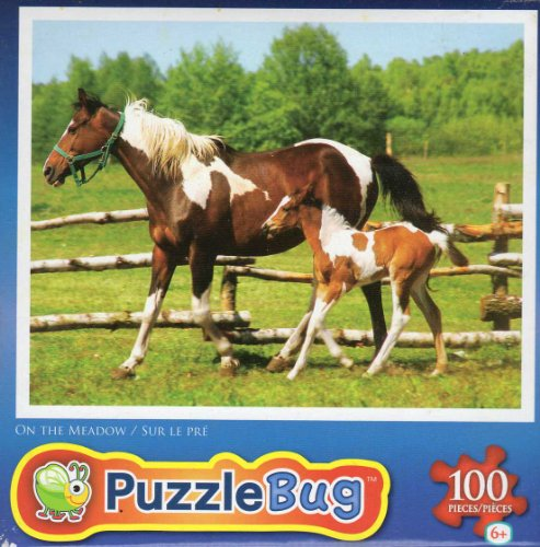 On the Meadow - Puzzlebug - 100 Ps Jigsaw Puzzle - NEW - 1
