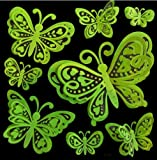 Creative Motion Glow in The Dark 3D Butterfly Decals