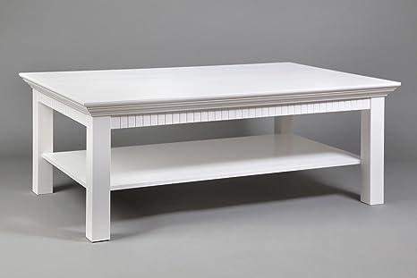 Couchtisch weiß lackiert, Maße: 120x76cm