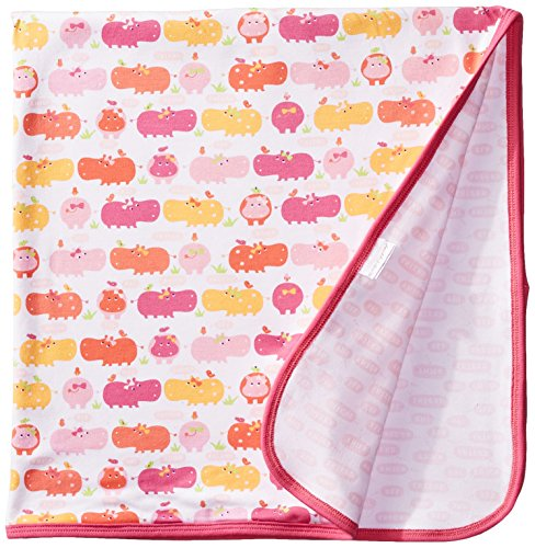 Magnificent Baby Baby-Girls Newborn Reversible Blanket, Girl Hippo, One Size - 1
