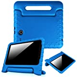 Fintie Case for Samsung Galaxy Tab E 9.6 - Light Weight Shock Proof Convertible Handle Stand Kids Friendly for Samsung Galaxy Tab E Wi-Fi/Tab E Nook/Tab E Verizon 9.6-Inch Tablet, Blue (Color: Blue)