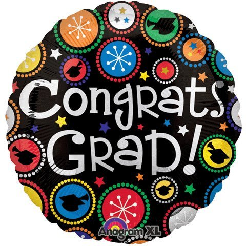 "18"" Congrats Grad Dot Patterns"