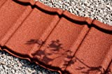 Plastic Roofing Tiles; diy, Ideal for Conservatories, Sheds, Log Cabins (Traditional Red)