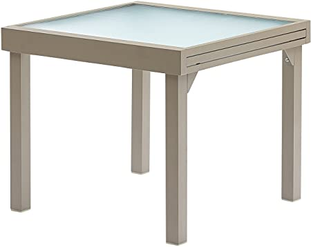 Table jardin modulo 90-180cm (taupe) (taupe)