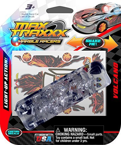 Max Traxxx Volcano Light Up Marble Racer Car