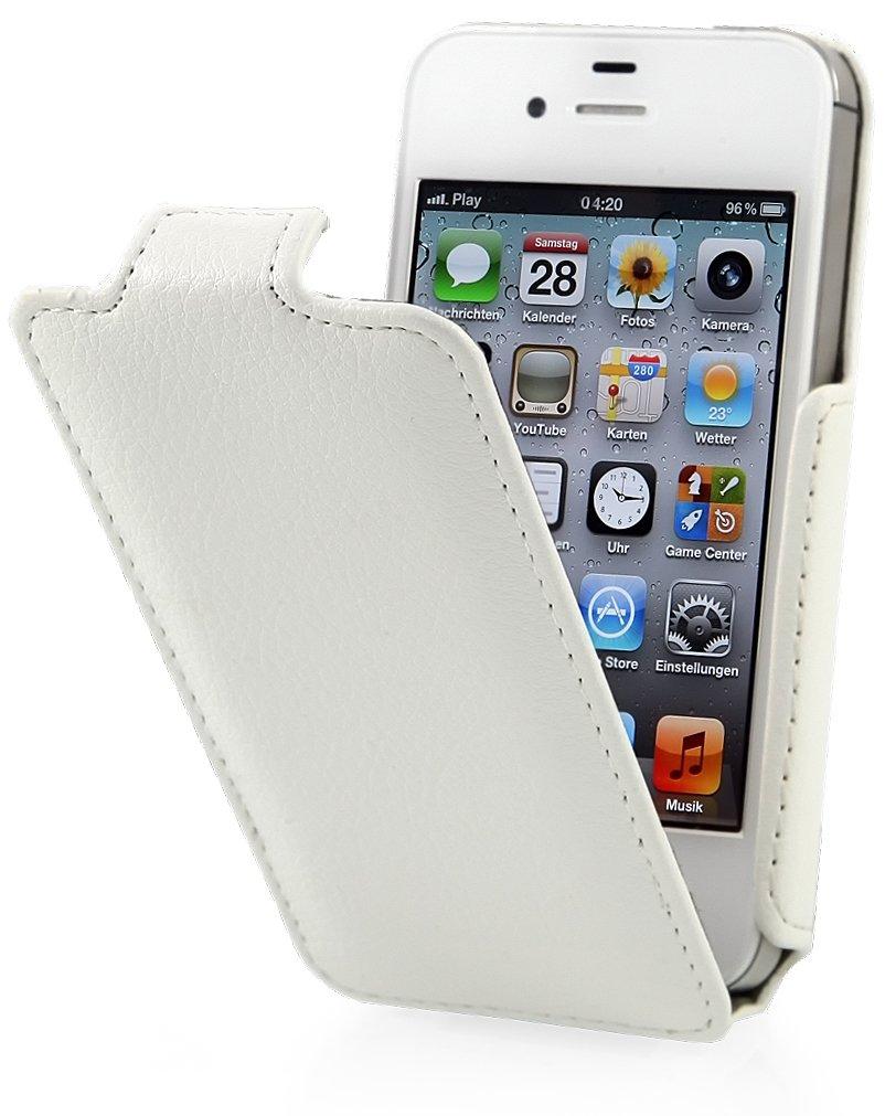 StilGut® Slim Case funda para iPhone 4 & iPhone 4s con válvula, en blanco - Electrónica - Comentarios de clientes y más información