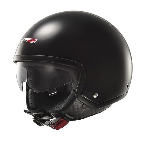 LS2 Casque de moto noir Of561 vague Gloss