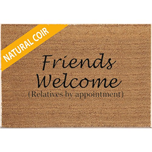 Classic Coir Funny Mat - Friends Welcome (Relatives by Appointment) 2' x 3'