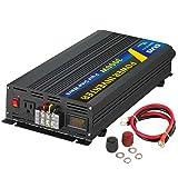 Sug 3000W(Peak 6000W) Power Inverter Pure Sine Wave DC 12V to AC 110V 120V Converter Back up Power Supply for RV, Home, Car Use (Tamaño: 3000W 12VDC)