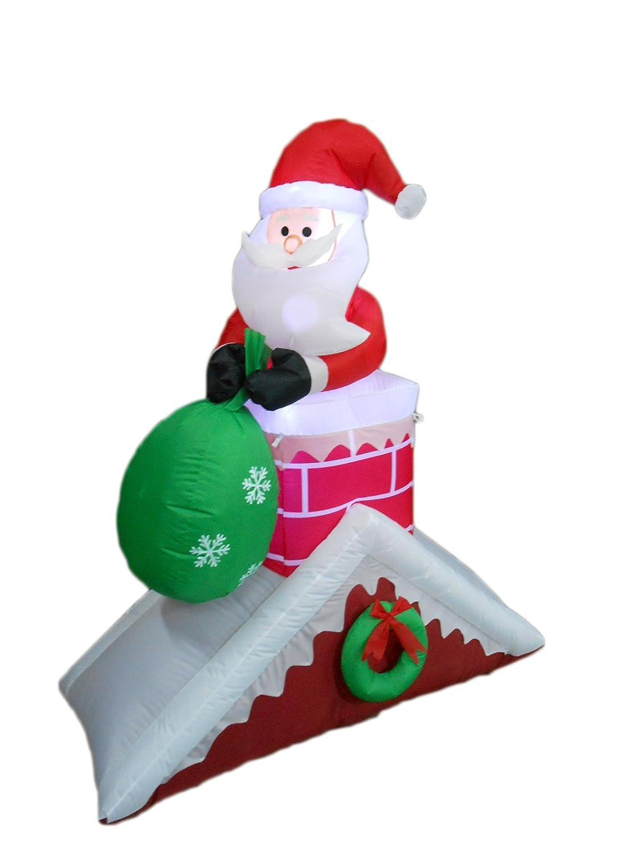 Santa claus chimney inflatables christmas wikii