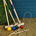 4 Player Complete Wooden Croquet Set