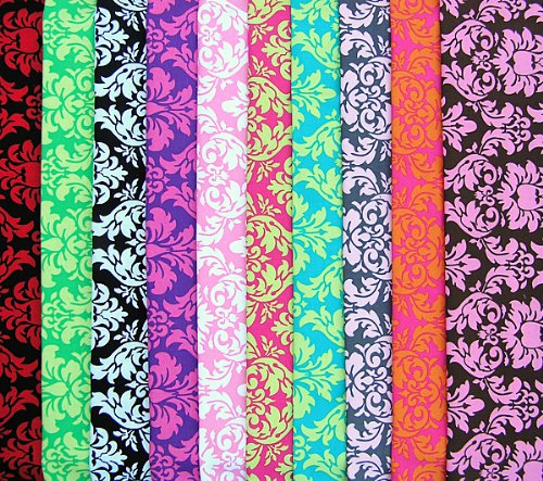 Michael Miller DAMASK Fat Quarters 10 Fabric Quilting FQs