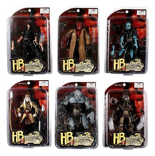 Picture of Mezco Hellboy 2: The Golden Army: Series 1 Action Figures Set of 6 (B001CTEP36) (Mezco Action Figures)