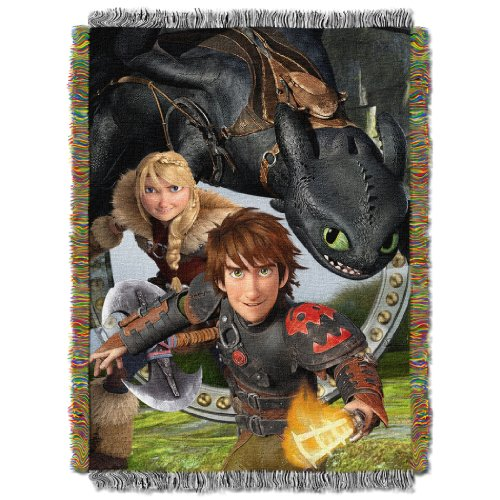 Dreamwork'S Dragons 2 Tapestry Throw Blanket - By The Northwest Company, 48-Inches By 60-Inches front-875516