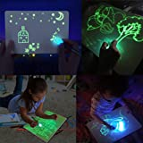 Jeteven Kid Light Drawing Pad Luminescent Board Glow in Dark Painting Developing Educational Toy (A4) (Color: Green Package, Tamaño: A4)