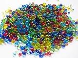 レインボーのたね ガラスの粒 10g レジン 硝子のかけら カレット 素材 封入 材料 アクセサリーパーツ