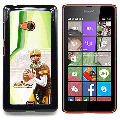Aaron Rodger 12 NFL Custodia protettiva Progettato rigido in plastica King Case For Microsoft Nokia Lumia 540 N540