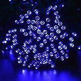 lederTEK Solar Christmas Lights 72ft 22m 200 LED 8 Modes Solar Fairy String Lights for Outdoor, Gardens, Homes, Wedding, Christmas Party, Waterproof (200 LED Blue)