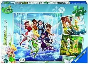 Ravensburger - 09219 - Puzzle - Les Quatre Saisons des Fées - 3 x 49 pièces