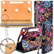 """New TAN Design Universal Leather 360 degree Rotating Stand Case Cover For Apple iPad Mini 3 - Jellyfish ( Designer Folio Android Colourful Luxury Protective 7"""" Tab Flip Skin ) by Gadget Giant�"""