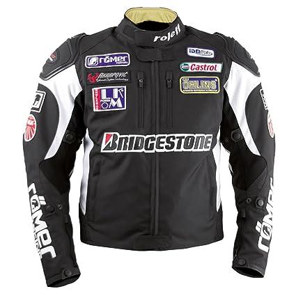 Roleff Racewear 7585 Blouson Moto Textile Roleff Race, Noir, XL