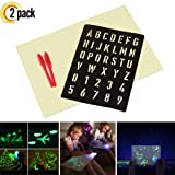 2 Pack Magic LED Drawing Board Fun and Developing Toys for Kids, Draw with Light in Dark, Developing Writing Board Education Doodle Gifts (2 Pack L) (Tamaño: 2 Pack L)