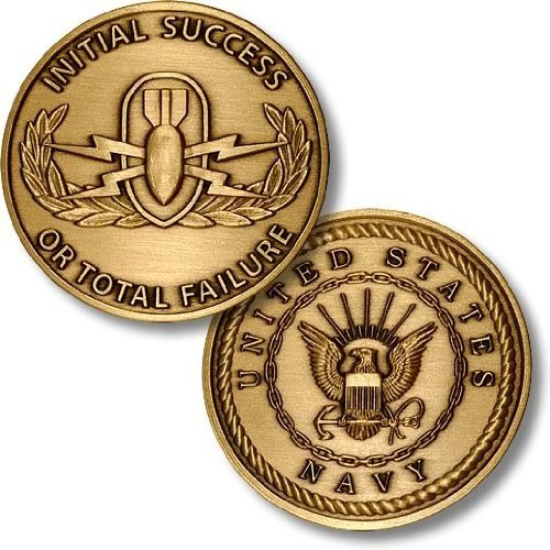 EOD School US Navy Challenge Coin