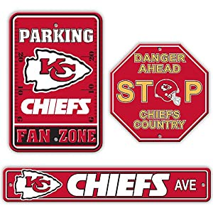 Fremont Die Kansas City Chiefs 3 Piece Sign Kit 3 Pack