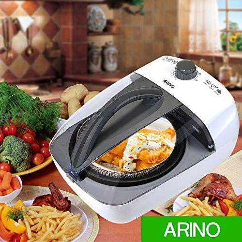 Airfryer-Heiluftfritteuse-ARINO-Heiluft-Fritteuse-Multicooker-KL-818B2-1100-Watt-3-Litter