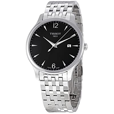Tissot Men's T0636101106700 Quartz Tradition Silver Tone Anthracite Dial Watch