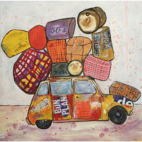 """Bistrot"" Bistrot Table: Road Trip - 90 x 90 cm"