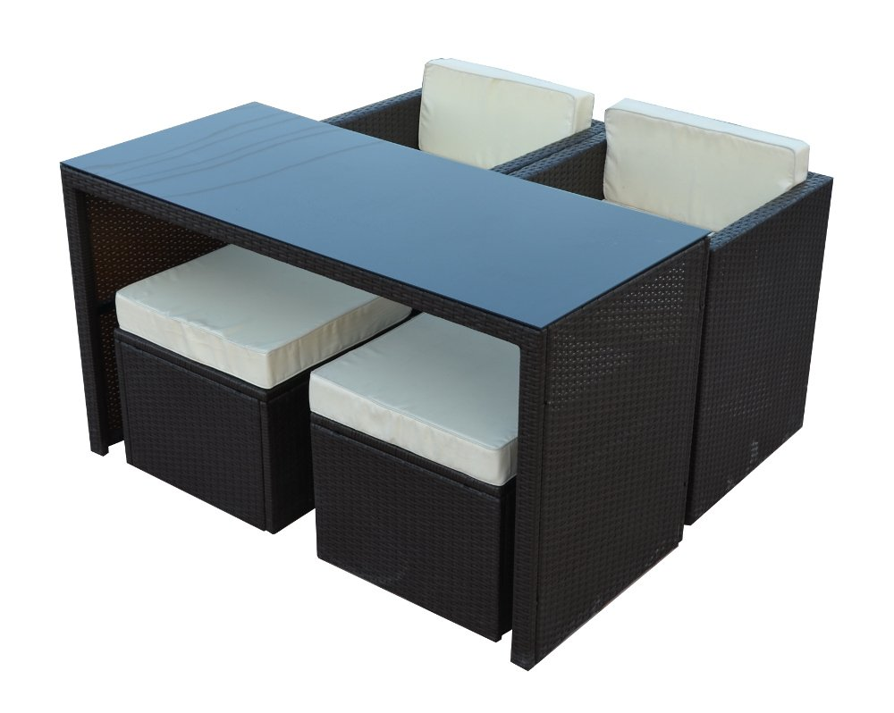 poly rattan gartenm bel gartengarnitur balkonm bel set gm6pra schwarz kaufen. Black Bedroom Furniture Sets. Home Design Ideas