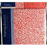 Divatex Tranquil Nights Luxury Weight Bedding Vivid Coral Pattern Queen 6 Piece Sheet Set