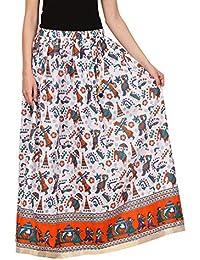Saadgi Rajasthani Hand Block Printed Handcrafted Ethnic Lehnga Skirt For Women/Girls - B06XGJL855