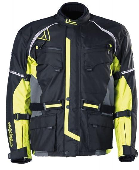 Modeka tOUREX veste en tissu touring-noir/jaune