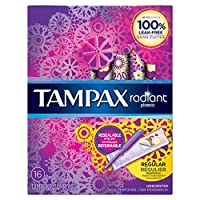 Tampax Radiant plastic Regular absorbency unscented tampons 16ct