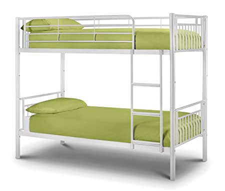 Atlas Bunk Bed - All White 3FT Single Bed Ivory Finish