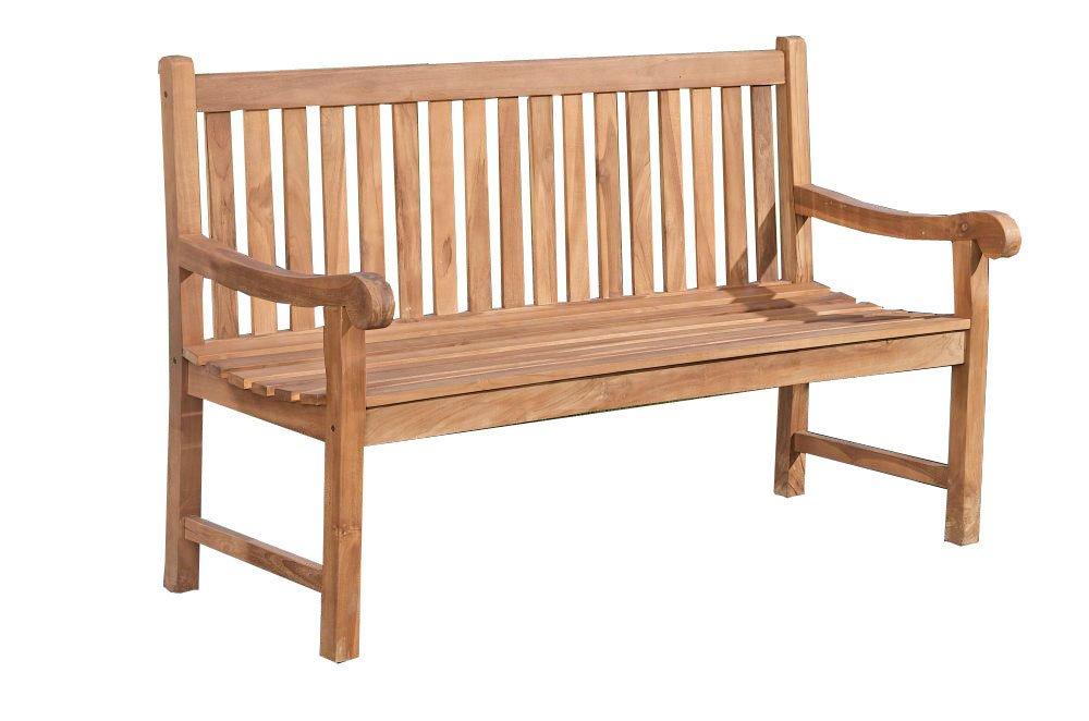 CLP Teak-Holz Gartenbank KENTUCKY V2 mit Lehne, wetterfest, massiv (aus bis zu 5 Größen wählen) 220×60 cm jetzt bestellen