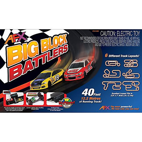 AFX 21004 HO Slot Car Race Set MegaG+ Tri Power Mega New Big Block Bat (Afx Slot Car Race Track Sets compare prices)