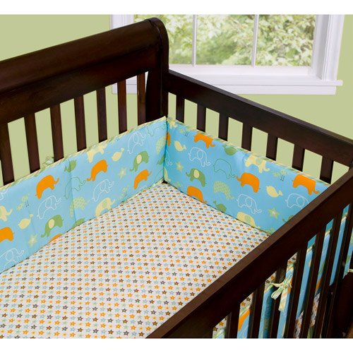 Step By Step Baby Crib Bumper - Animals Best Friends