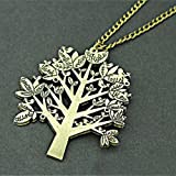 Styish Womens Vintage Retro Long Sweater Chain Pendant Costume Jewelry Necklace (BJS327 Tree)