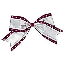 Jumbo 2 Color Metallic Hair Bow with Rhinestones