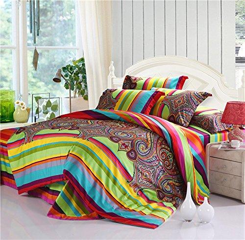 TheFit-Bohemian-Bedding-k2-Bohemian-Duvet-Covers-Boho-Bedding-Set-Queen-King-4pcs