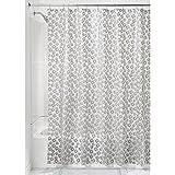 InterDesign Laci Shower Curtain, 72 x 72-Inch, Gray