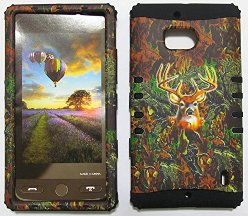 NOKIA LUMIA ICON CASE HUNTER FOREST CAMO DEER MOSSY OAK BK-WFL025 HEAVY DUTY HIGH IMPACT HYBRID COVER BLACK SKIN SILICON NK929 (Nokia Lumia Icon T Mobile compare prices)