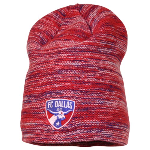Mls Marled Color Long Winter Knit Hat / Beanie - Fc Dallas