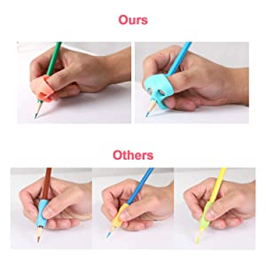 JARLINK Pencil Grips for Kids Handwriting, Aid Grip Trainer Posture Correction Finger Grip for Kids, Adults, Arthritis Designed for Righties or Lefties (4PCS) (Color: Multicolored, Tamaño: Small)